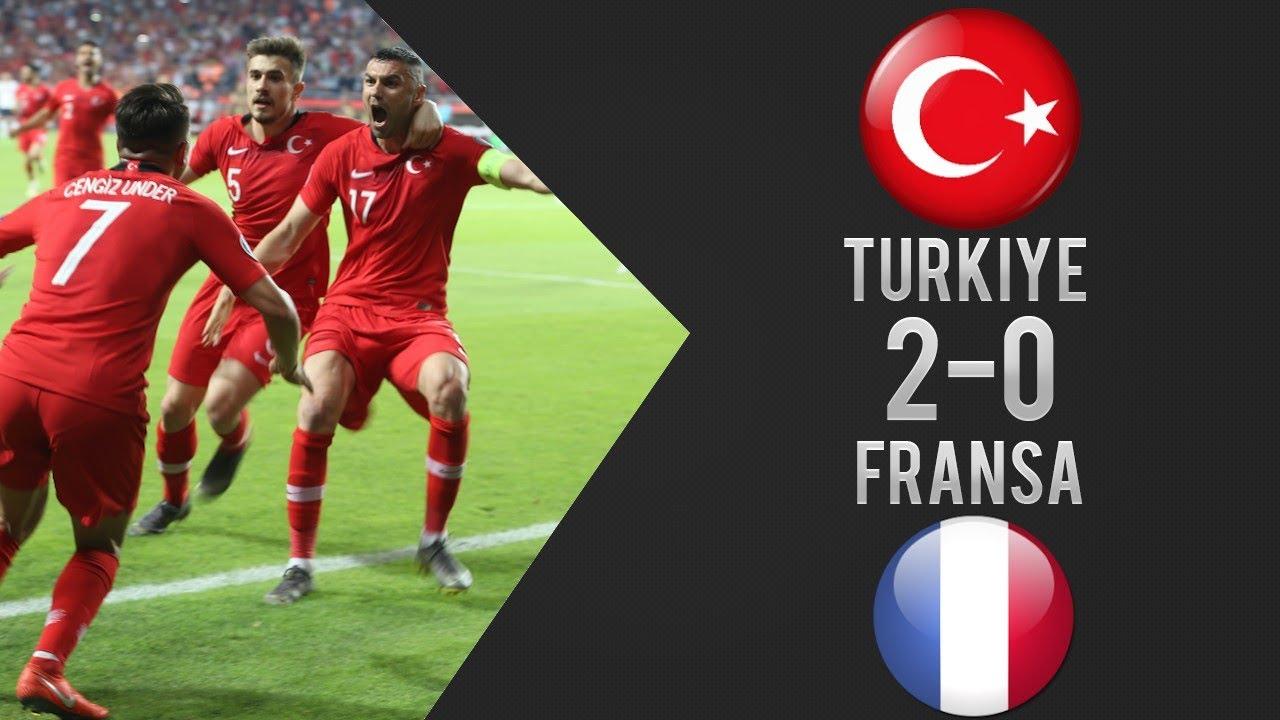 Türkiye 2-0 Fransa Türkçe Spiker Maç Özeti - EURO 2020 Elemeleri