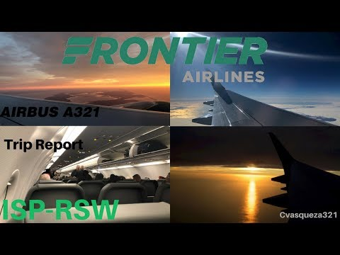 Frontier Airlines A321 | ISP-RSW | Mini Trip Report (Beautiful Sunrise Takeoff)