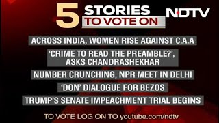Five Top Stories Of January 17, Pick The Story You Want To Follow On NDTV 24X7