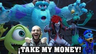 ¡TAKE MY MONEY KINGDOM HEARTS 3! - Monstruos S.A - trailer - Sasel - Riku