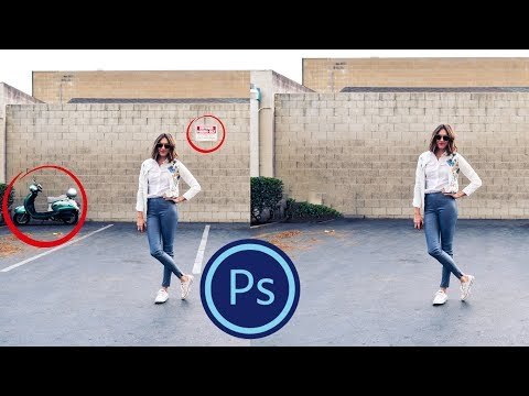 Photoshop📷 CS6 - How to Remove Anything From a Picture
