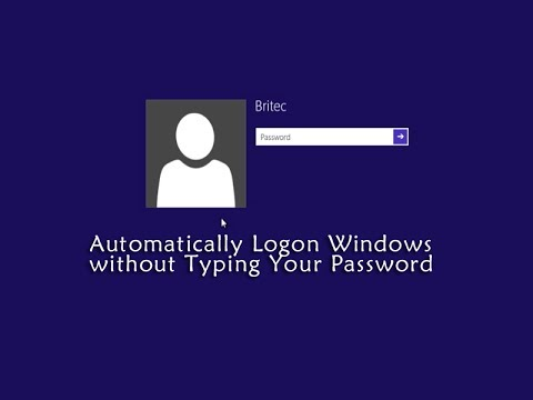 Automatically Logon Windows without Typing Your Password