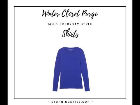 Winter Closet Purge Part 1 - Shirts