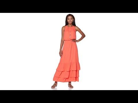 Jay by Jay Godfrey Ruffle Tiered Maxi Dress