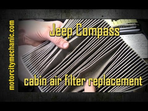 2008 Jeep Compass cabin air filter removal and replacement