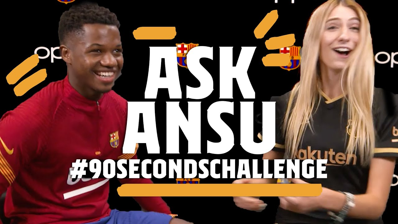 🤔😂 PIQUÉ'S BEARD OR GRIEZMANN'S HAIR? | Ansu Fati #90secondschallenge