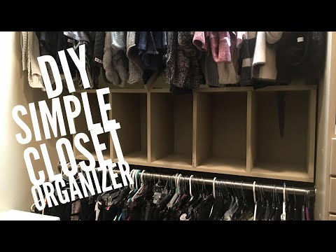 Diy simple closet organizer