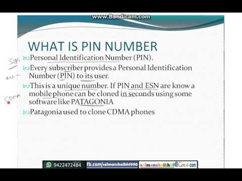 KNOW YOUR PIN AND ESN NUMBER OF SIM CARD TRICK ....