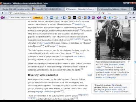 Citing Wikipedia in MLA