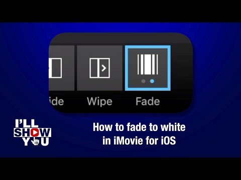 How to fade to white in iMovie for iOS