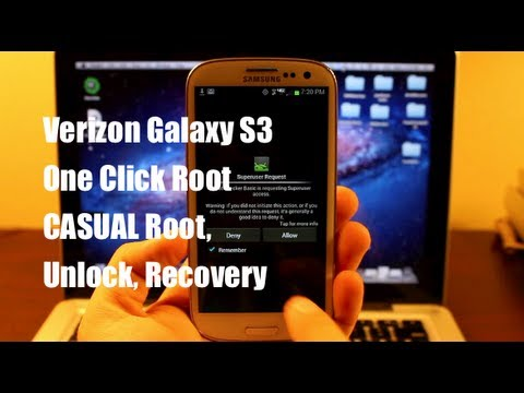 HOW TO ROOT Verizon Galaxy S3 CASUAL One Click Root, Unlock, Recovery