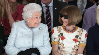 The Queen makes front row appearance at London fashion week