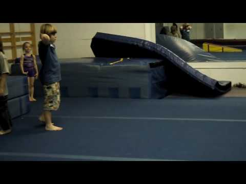 6 year old tumbling round off back handspring back tuck to back handsprings back tuck