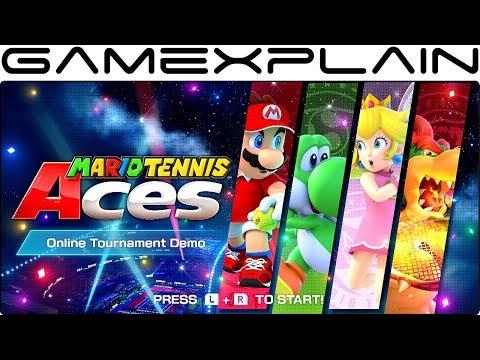 Mario Tennis Aces Demo Tour & Music Sample (No Offline Gameplay... We Tried)