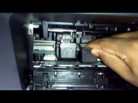 How to add and remove ink cartridges of canon pixma printer