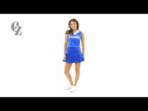 Cheerleader Uniform Top & Skirt | 00466 00478