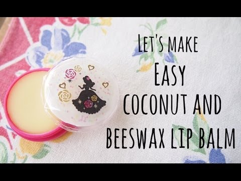 Easy Coconut and Beeswax Lip Balm
