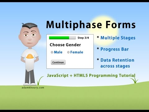 Multiphase Form Programming Tutorial Multi Step JavaScript PHP