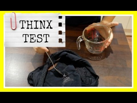 Thinx underwear absorbency test