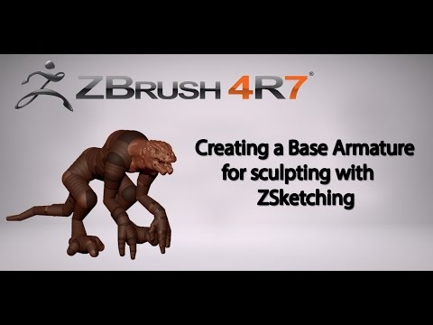 Creating a Base Armature for sculpting with ZSketch