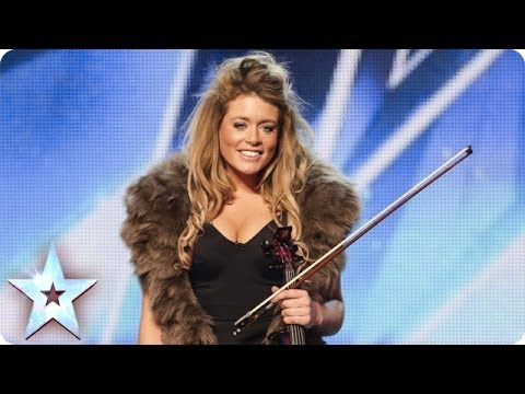 Posh violinist Lettice Rowbotham gives the Judges something new | Britain's Got Talent 2014