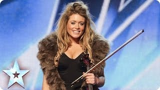 Posh violinist Lettice Rowbotham gives the Judges something new | Britain