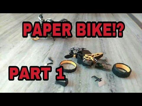 How to make TVS Apache RR 310 paper model bike(wheels)