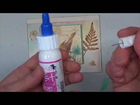 Glue Tips for Card Making with Dried Flowers