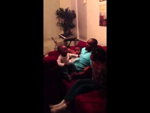 Jam Session with my spoiled son and my step kids! This went on for hours! He is so rotten.