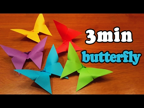 How To Make an Easy Origami Butterfly (in 3 MINUTES!)