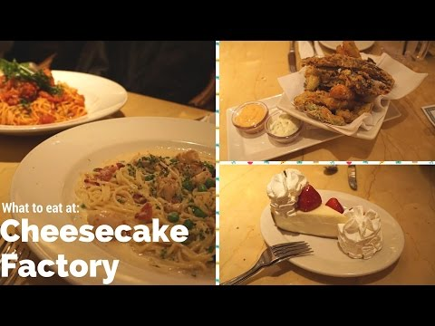 Seattle Cheesecake Factory: Perfect 3 course meal for 3