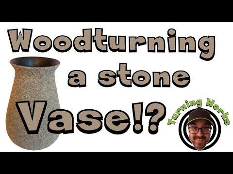 Woodturning a STONE Vase!?