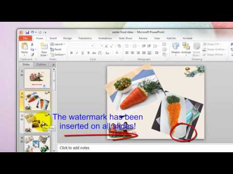 How to Create Watermark onto PowerPoint Presentation Before Sharing