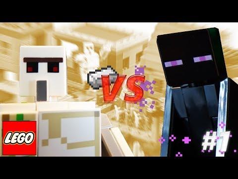 Iron Golem VS Enderman - Lego Minecraft Animation