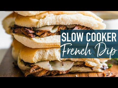 French Dip Sandwiches Recipe (Crockpot Beef Au Jus)