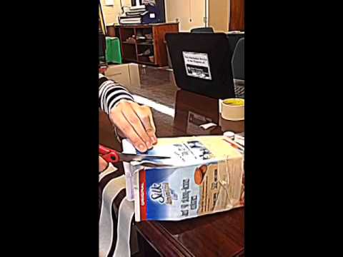 How to Cut the Milk Carton for Gingerbread Houses