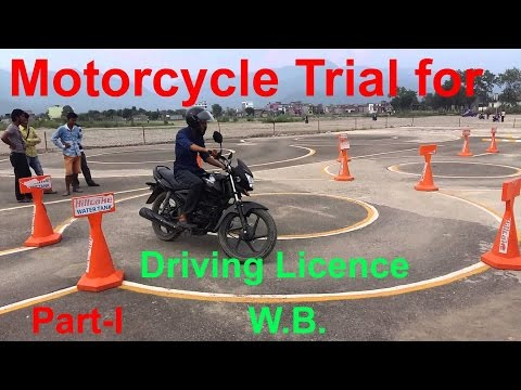 Motorcycle trial for driving licence in India (Part-I)