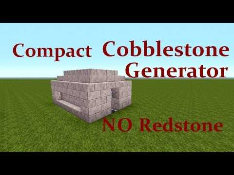 Minecraft Tutorial : Compact Cobblestone Generator NO Redstone