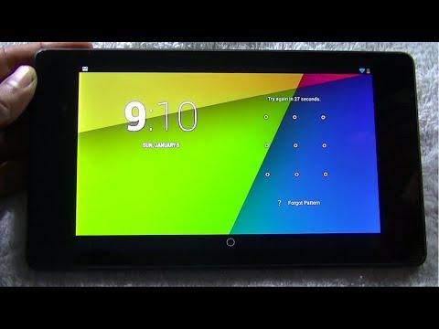 Nexus 7 (2013) pattern forgot ! Unlock in easy steps
