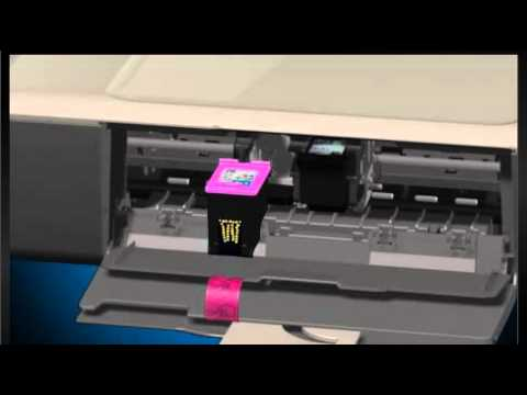 How to insert and remove cartridges of HP printers