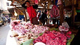 Meghalaya STREET FOOD Breakfast TOUR in Iewduh Market - Non Veg INDIAN Street Food | Shillong, India