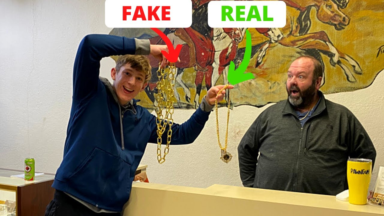 Can A Pawn Shop Tell The Difference Between A Real And Fake Gold Chain?