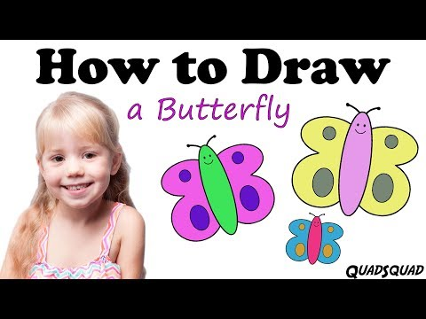 How to Draw a Butterfly - Easy Drawing Lesson for Kids