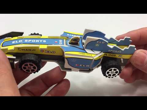 3D Paper Puzzle DIY, How to Assembly the F1 Racing Car Model2