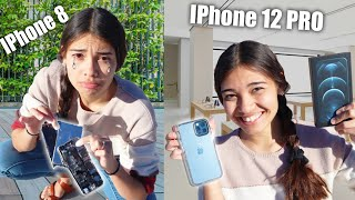 Destroying My Wife's PHONE And Buying her a new IPhone 12 Pro!! *She CRIED!*