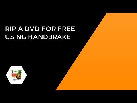 Rip a DVD for free using Handbrake (with no scrambled video)