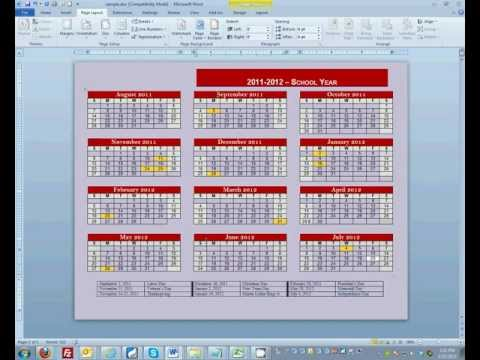 How to: Change & Print Background Color in Microsoft Word 2010