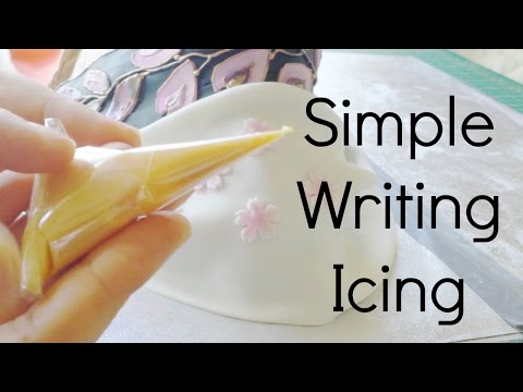Simple egg-free writing & outlining icing (Royal icing substitute)