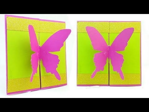 DIY easy Greeting Card Butterfly Birthday Mother's Day - Step by Step DIY Kartka z Motylami