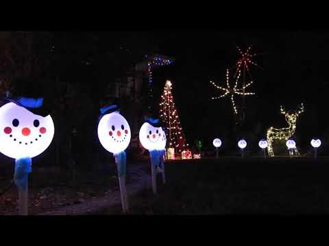 Christmas Light Yard Display 2017 | Castro Valley, California